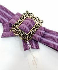 sha*lan*ra/シャランラ R-8 リボンゴムベルト (紫/GD)