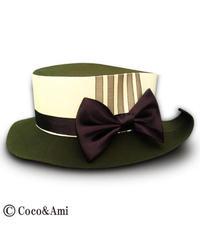 Coco&Ami/ココトアミ HAT-HR-2602YM 春風葉っぱ帽子/よもぎ