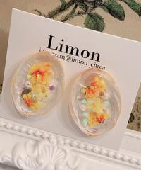 Limon 押し花 イヤリング33