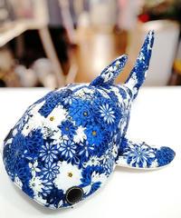 KASEI/カセイ 1712-B237  小サメ ショルダー  (花群生/青)