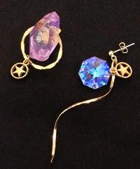 伴蔵装身具屋/ばんぞうそうしんぐや 魔鉱石と星屑の耳飾り(ピアス)95
