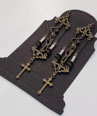 Phantom Jeweiry 首吊り骸骨と十字架のピアス