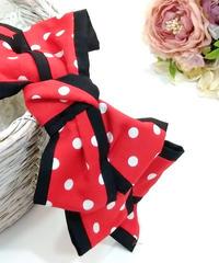 製作日和/せいさくびより L.Dot.03 Dot ribbon カチューシャ(red/P.black)