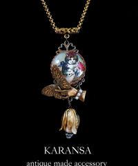 KARANSA KN-150 ラブレター猫蝶ネックレス