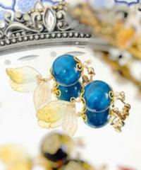 製作日和 D-Er-S 珠飾りのイヤリング(青緑系)(期間限定アイテム)