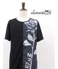 elements,H/エレメンツ,アッシュ 591701P  MENS Sculpture Rose カットソー