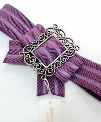sha*lan*ra/シャランラ R-8 リボンゴムベルト (紫/SV)