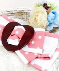 製作日和/せいさくびより L.Dot.01 Dot  ribbon clip (♡/pink)