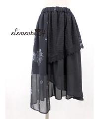 elements,H/エレメンツ,アッシュ 091503P フラワークロスプリントスカート