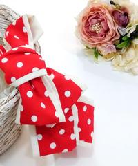 製作日和/せいさくびより L.Dot.03 Dot ribbon カチューシャ(red/P.white)