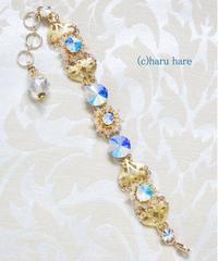 HARU HARE クリスタルカラーと青い輝きのスワロフスキーのブレスレット AM2105-08