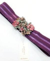 sha*lan*ra/シャランラ HT-1 花束のバックルベルト (紫/SV)