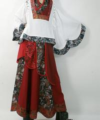 Qutie Frash/キューティーフラッシュ 7799-SK 和柄フレアロングスカート