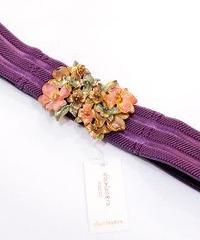 sha*lan*ra/シャランラ HT-1 花束のバックルベルト (紫/GD)