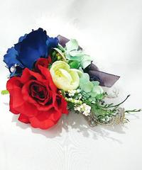 花美鈴/はなみりん 0001 コサージュ(トリコロールカラー)