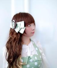 製作日和/せいさくびより L.Dot.01 Dot ribbon clip (♡/mint)