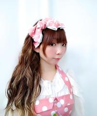 製作日和/せいさくびより L.Dot.03 Dot ribbon カチューシャ(pink)