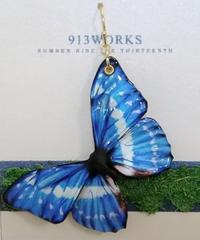 【913WORKS】  A-388 キプリスモルフォ・ピアス(中/BL)