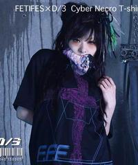 D/3/ディースリー  FETI-FES × D/3 サイバーネクロTシャツ