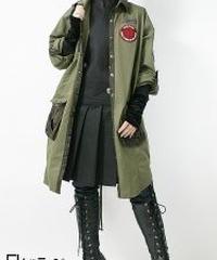 QutieFrash/キューティーフラッシュ  7735-BL ミリタリーシャツ