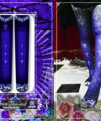 estrelleas/エストレージャス 誓いの庭ニーハイソックス/紫 庭C