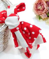 製作日和/せいさくびより L.Dot.03 Dot ribbon カチューシャ(red/white)
