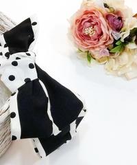 製作日和/せいさくびより L.Dot.03 Dot ribbon カチューシャ(black/white)