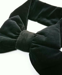 sha*lan*ra/シャランラ RM-6 リボンマフラー(ブラック)