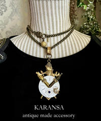 KARANSA  KN-168 《エンブレム⭐︎ウォッチ》  ネックレス&ブローチ2way