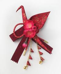 あそ美や  20-10  折り鶴髪飾り(紅)