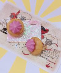 スパイス一匙 お花クッキーの耳飾り(イヤリング)29