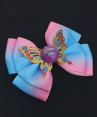 N0.96/ナンバークロ 紫陽花のおりぼん RB-D1 青×ピンク