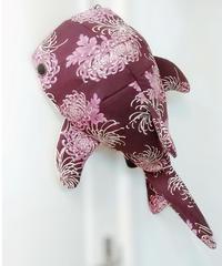 KASEI/カセイ  1412-B210 ジンベエザメ形ボディバッグ 輪菊(京紫)