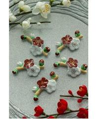清水焼/梅が枝お箸置き5個セット