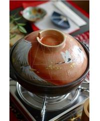 清水焼/金彩富士鍋