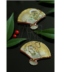 清水焼/風神雷神箸置きペアセット