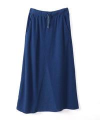 インディゴウラケワイドガゼットスカート         las-95139k