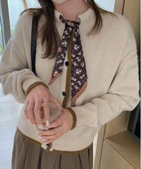 scarf knit cardigan/3color