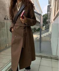 (予約)handsome  W long coat/3color
