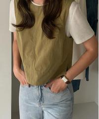 box sleeveless tops/2color