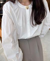 gather cotton blouse/3color