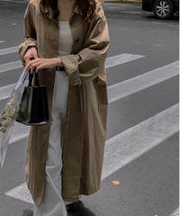over size trench coat/3color