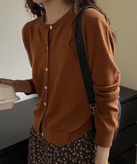 wool color cardigan/4color