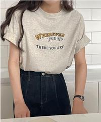 wherever logo T-shirt/2color