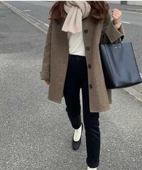 (再販準備中)middle basic coat【wool 90%】