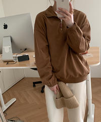 half zip up pullover/3color