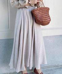 sheer flare skirt/3color