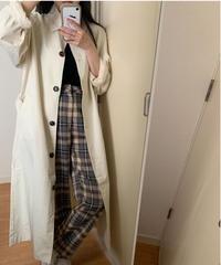 long sten collar coat/2color