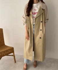 bi-color trench coat