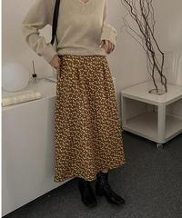 flower flare long skirt/2color